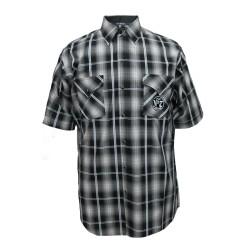 Camicia Scozzese Scuro Jack Daniel's manica corta