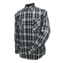 Camicia Scozzese Scuro Jack Daniel's manica lunga
