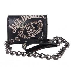 Portafoglio Jack Daniel's con catena e ricamo