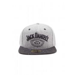 Cappellino Jack Daniel's tesa dritta grigio