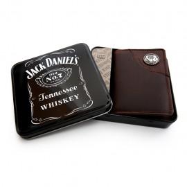 Portafoglio Jack Daniel's trifold marrone