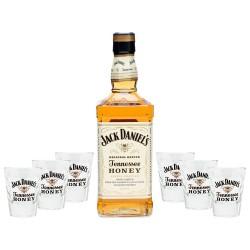 Jack Daniel's Tennessee Honey Bottiglia 70cl con 6 bicchieri