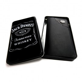 Portafoglio  Western Jack Daniel's pelle nera