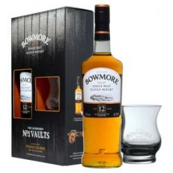 Bowmore 12 YO  Islay Single Malt più biccchiere