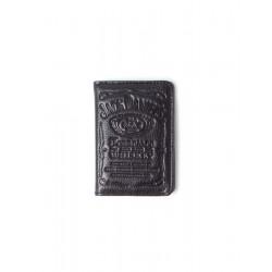 Portacard small Jack Daniel's pelle nera