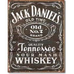 Insegna JD Etichetta nera Vintage