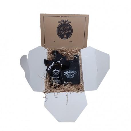 Confezione  Jack Daniel's  Mignon vetro 5cl con biglietto di Auguri e omaggio
