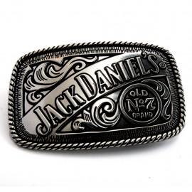 Fibbia Jack Daniel's placata in argento antichizzato