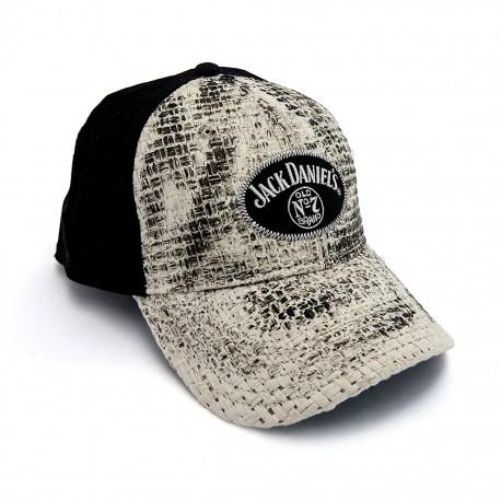 Cappellino Jack Daniel's baseball paglia e cotone
